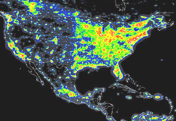 Light Pollution Map USA - Us light pollution map