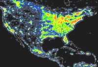 USA Light Pollution Map